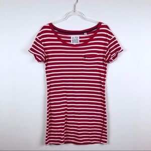 Jack Wills Red and White Striped Tee Shirt Dress 4